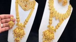 Latest Gold Haram Designs In 40 Grams Gold Haram Designs In 40 Grams Latest Jewellery Designs