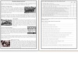WWI & WWII Reading Comprehension Worksheets (SAVE 55%) by MariaPht ...