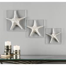 Silver Starfish Decor