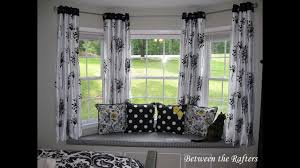 bay window curtain rod. DIY Bay Window Curtain Rod Ideas