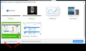 Screen Sharing With Audio Securevideo Zoom Screensharing How To Share Content