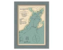 Tide Chart Gloucester Ma Gloucester Harbor Massachusetts Nautical Chart By Geo Eldridge Colored Version
