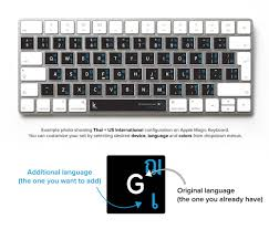 With the lowest prices online, cheap. Thai Bilingual Keyboard Sticker For Mac And Pc Keyshorts