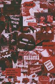 Baddie Red Aesthetic Collage Wallpaper ...