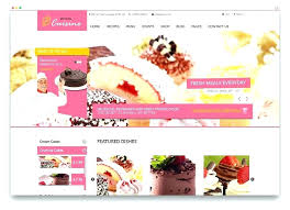 Kitchen Cuisine Cake Shop Website Template Free Themes For Bakeries