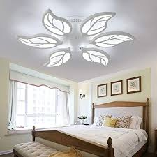 LITFAD 6-<b>LED</b> Leaf Design <b>Dimmable</b> Semi Flush Ceiling Light ...