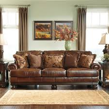 ashley leather living room furniture. 2000. You Can Download Fantastical Living Room Decorating Inspiration Comes With Brown Leather Sofas From Ashley Furniture A