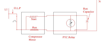 ptc relay diagram residential electrical symbols \u2022 Refrigerator Compressor Relay Wiring Diagrams compressor start with ptc relay run capacitor circuit download rh researchgate net ptc relay wiring diagram