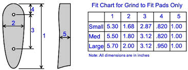 Pachmayr Decelerator Size Chart Pachmayr Slip On Recoil Pad Size Chart Best Picture Of