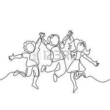 Bambini Che Si Tengono Per Mano Vettoriali Illustrazioni E Clipart