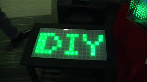 Led Coffee Table Diy Diy With Ti Light Up Coffee Table Youtube