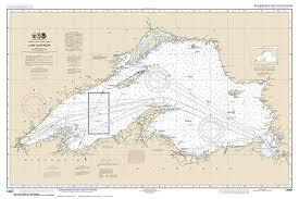 Amazon Com Lake Superior 2016 Nautical Map Custom Print