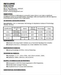 What Is The Format Of A Resume Unique 28 Resume Formats PDF DOC Free Premium Templates
