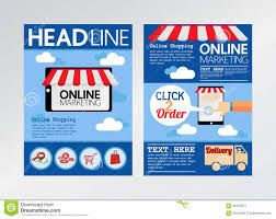 Marketing Flyers Templates 039 Template Ideas Commerce Online Marketing Magazine Cover