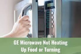 ge microwave not heating up food or