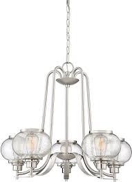 quoizel trg5005bn trilogy modern brushed nickel chandelier lighting loading zoom