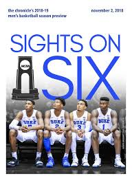 Mens Acc Basketball Preview 2018 By Duke Chronicle Issuu