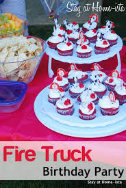 Stay At Home Ista A Fireman Birthday Party At A Fire Station