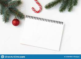 Blank Christmas List Christmas Decorations Branch Of Fir Candy Cane Notebook
