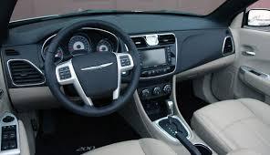 chrysler 200 2011. 2011 chrysler 200 convertible interior