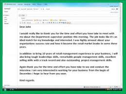 thank you note after interview sample sample email after interview template business