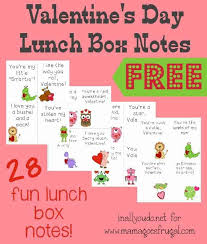 A wish for a valentine's day as sweet as you are! Free Valentine S Day Lunch Box Notes 28 Cards Mom For All Seasons
