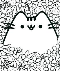 Coloring Pages Pusheen Cat Colouring Pages Free The Coloring Cats