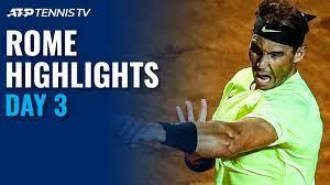Nadal, Djokovic Make Winning Returns; Sinner Shocks Tsitsipas   Rome 2020  Highlights Day 3 - YouTube