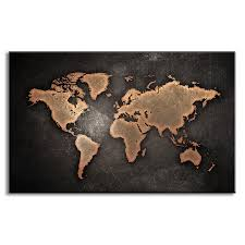 map painting prints on canvas abstract black world map picture for living room wall art no frame in painting calligraphy from home garden on