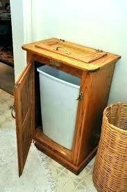 wooden trash bin for kitchen wood bins cabinet with garbage net oak can holder ice box wooden trash bin for kitchen