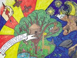 environmental awareness students get creative through essay environmentally minded above is the poster designed by grace gibson an eighth grade religious