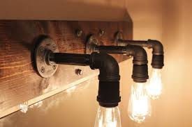 magnificent edison lighting bulbs in pipes in edison light fixtures