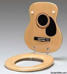 gifts guitar housewares natural acoustic guitar toilet seat