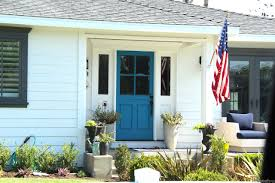 blue front doorsimeeshucom  Painting your front door a bright color