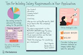 Salary Requirements On A Resumes When And How To Disclose Your Salary Requirements