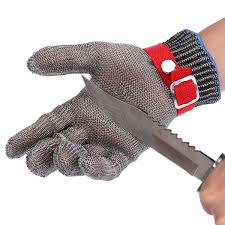 1pcs stainless steel anti cut working gloves men efficient cut resistant mechanic butcher welding glove white nylon