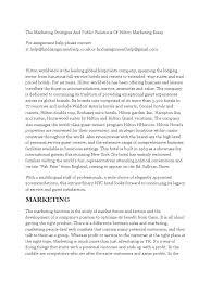 the marketing stratigies and public relations of hilton marketing the marketing stratigies and public relations of hilton marketing essay marketing hilton worldwide