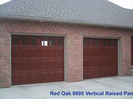 Simulated wood garage doors