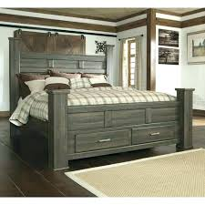 Storage Bed Frame King King Size Bed With Storage Drawers Tall Bed ...