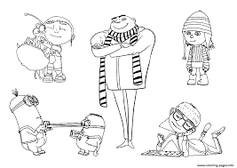 Small Picture DESPICABLE ME COLORING Pages Free Download Printable