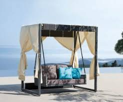 Outdoor Daybed with Canopy Swing — Town of Indian Furniture
