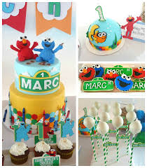 Karas Party Ideas Elmo Cookie Monster Sesame Street Birthday Party