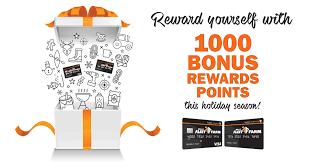 reward yourself with 1000 bonus rewards points this holiday season