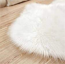 faux fur rug white soft fluffy cm gy rugs sheepskin floor ikea carpet