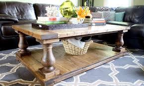 wooden restoration hardware coffee table