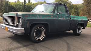 For Sale 1977 Chevy C10 short wide pickup - YouTube