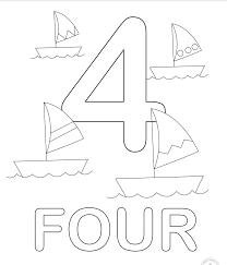 In Inglese Numeri Da Colorare Numero Quattro Disegni Da Colorare E