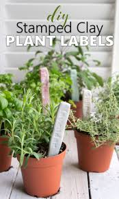 diy plant labels make sted clay markers for your herb garden