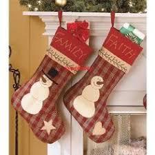 christmas stocking set. Contemporary Christmas Primitive Country Christmas Snowman Embroidered Family U0026 Faith Stocking Set   To S