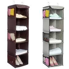 details about space saver hanging shoe storage closet organizer hanger 5 pocket shelf rack
